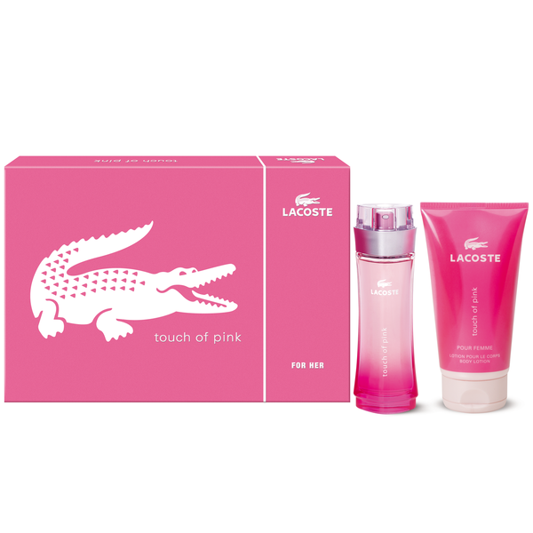 LACOSTE PINK 2PC 90ml EDT